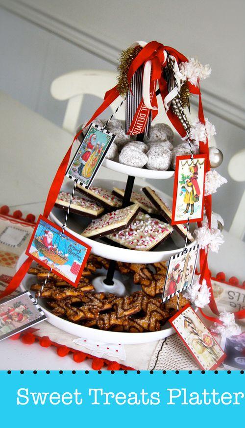 embellished Christmas platter